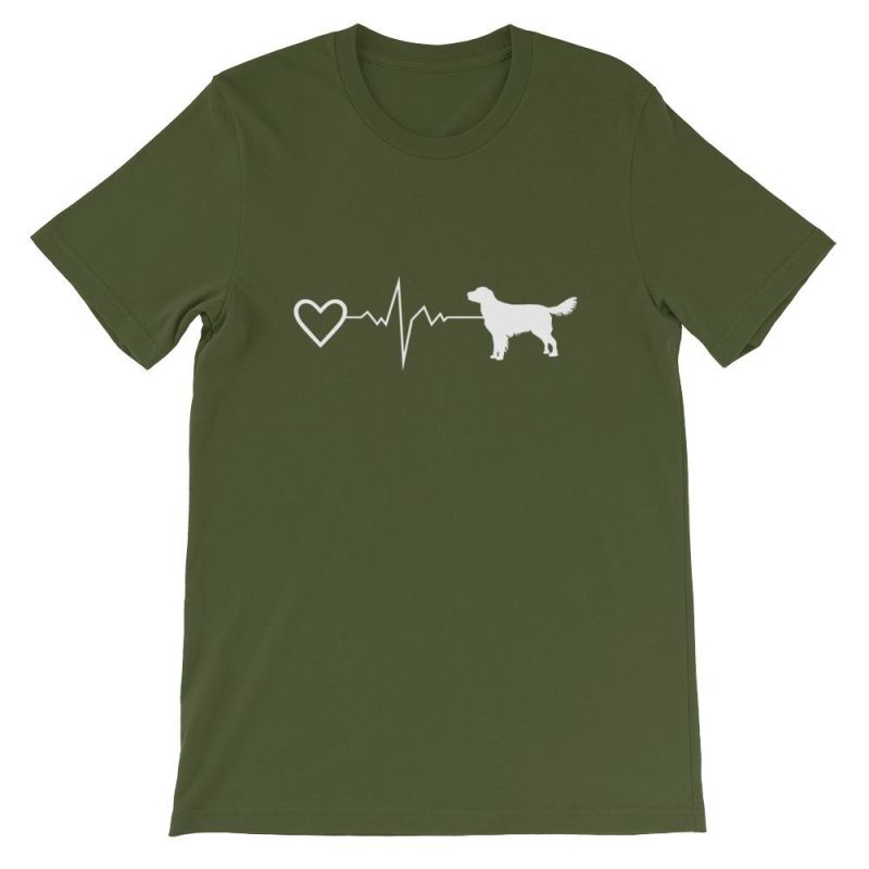 Nova Scotia Duck Tolling Retriever - Heartbeat Short-Sleeve Unisex T-Shirt Olive / S