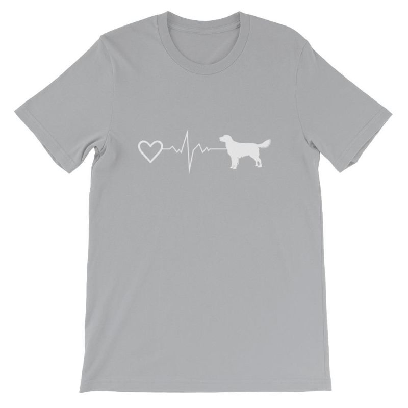 Nova Scotia Duck Tolling Retriever - Heartbeat Short-Sleeve Unisex T-Shirt Silver / S