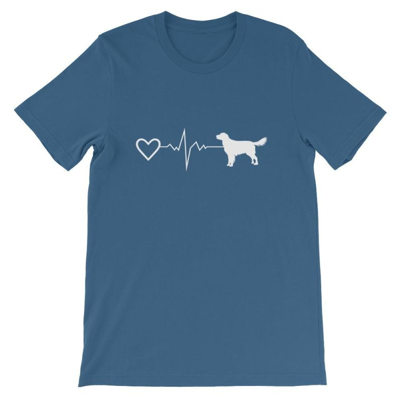 Nova Scotia Duck Tolling Retriever - Heartbeat Short-Sleeve Unisex T-Shirt Steel Blue / S