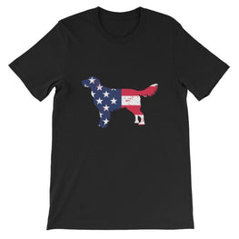 Nova Scotia Duck Tolling Retriever - Patriotic Design Short-Sleeve Unisex T-Shirt Black / S