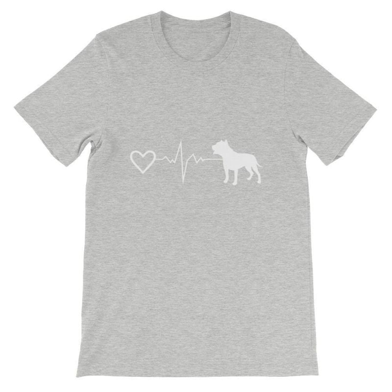 Pit Bull Heartbeat - Short-Sleeve Unisex T-Shirt Athletic Heather / S