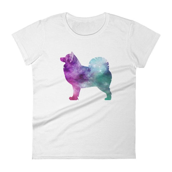 Pomsky Galaxy Design - Women's Short Sleeve T-Shirt White / S