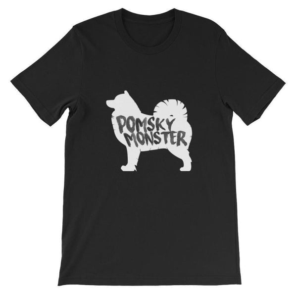 Pomsky Monster - Blackout Edition Short-Sleeve Unisex T-Shirt S