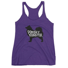 Pomsky Monster - Women's Racerback Tank Purple Rush / Xs