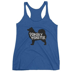 Pomsky Monster - Women's Racerback Tank Vintage Royal / Xs