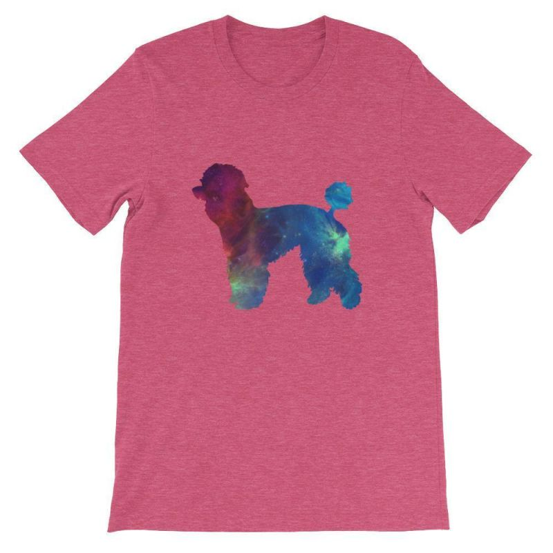 Poodle Galaxy Design - Short-Sleeve Unisex T-Shirt Heather Raspberry / S