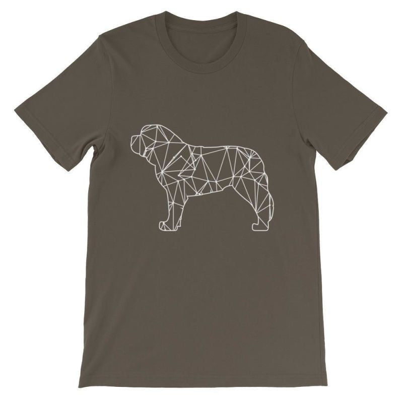 Saint Bernard Geometric Design - Unisex Short Sleeve T-Shirt Army / S