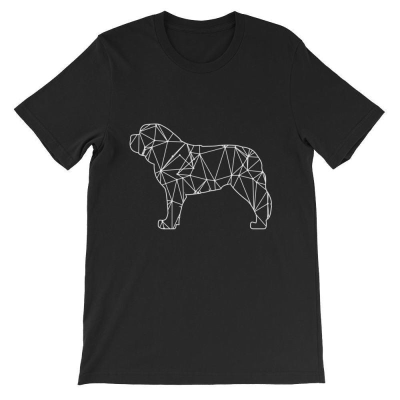 Saint Bernard Geometric Design - Unisex Short Sleeve T-Shirt Black / S