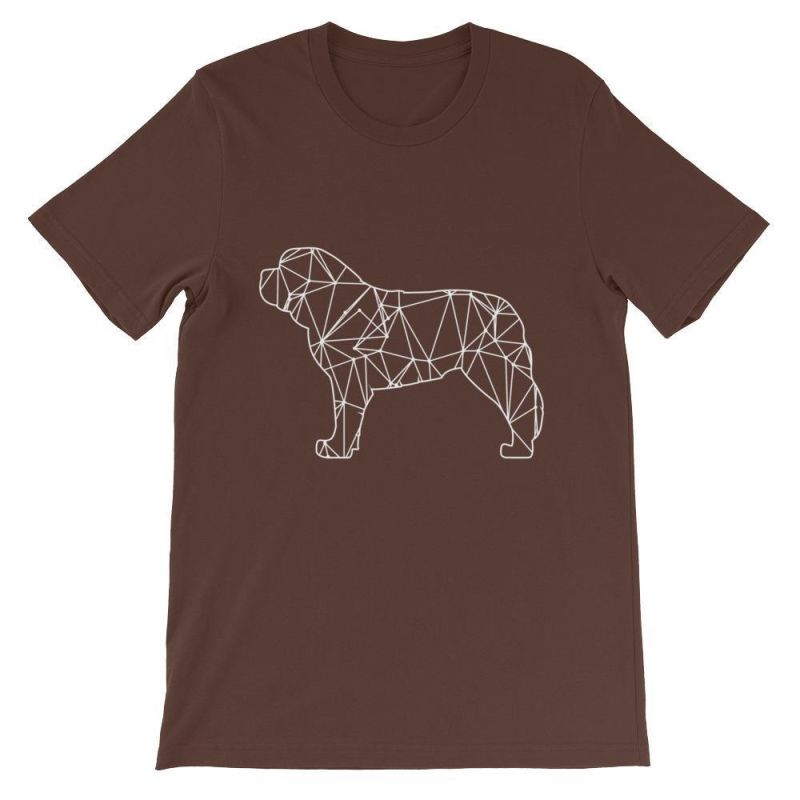 Saint Bernard Geometric Design - Unisex Short Sleeve T-Shirt Brown / S