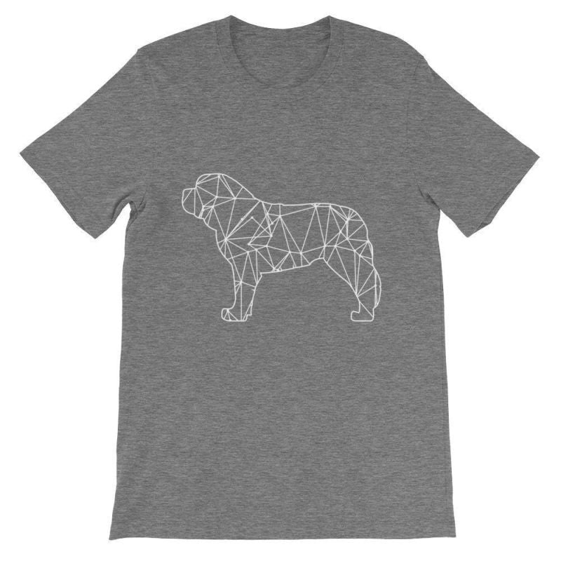Saint Bernard Geometric Design - Unisex Short Sleeve T-Shirt Deep Heather / S