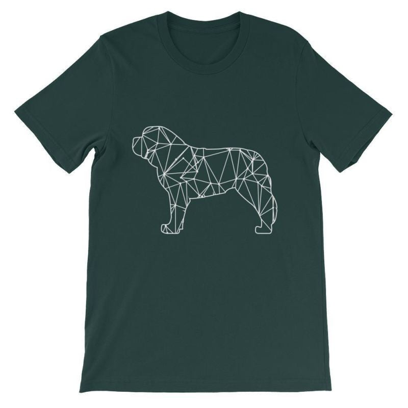 Saint Bernard Geometric Design - Unisex Short Sleeve T-Shirt Forest / S