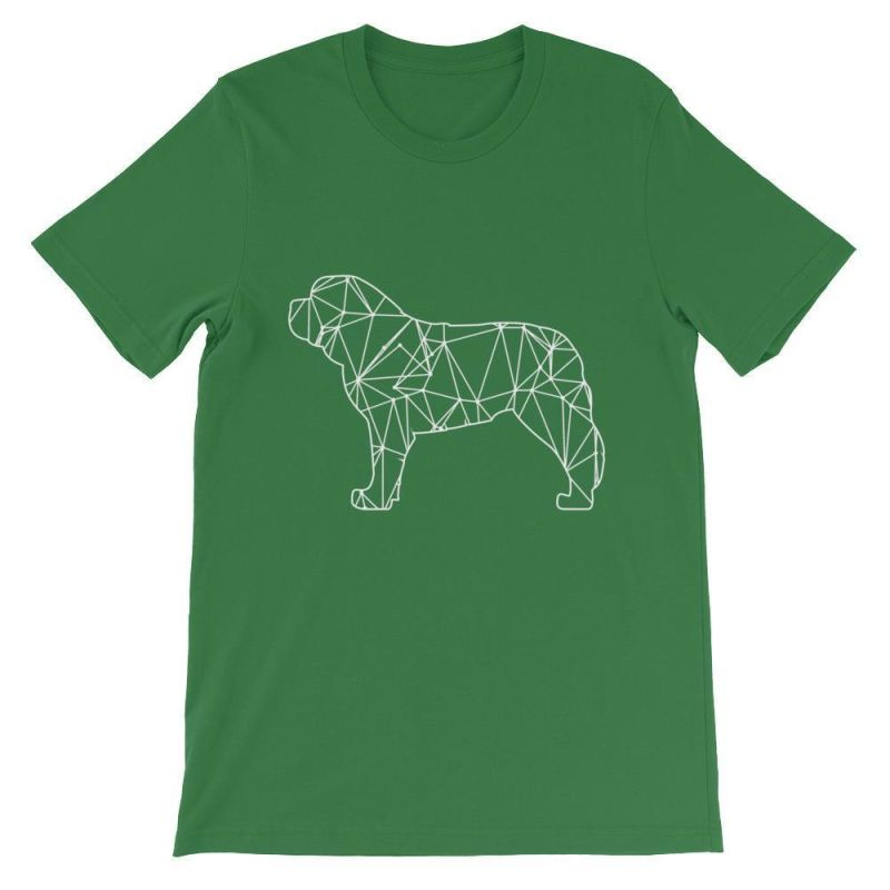 Saint Bernard Geometric Design - Unisex Short Sleeve T-Shirt Leaf / S