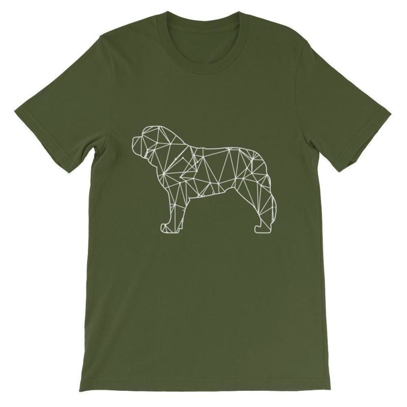 Saint Bernard Geometric Design - Unisex Short Sleeve T-Shirt Olive / S