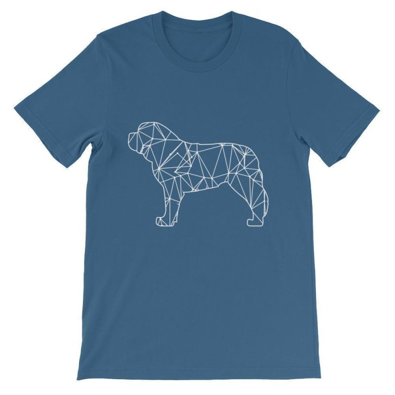 Saint Bernard Geometric Design - Unisex Short Sleeve T-Shirt Steel Blue / S