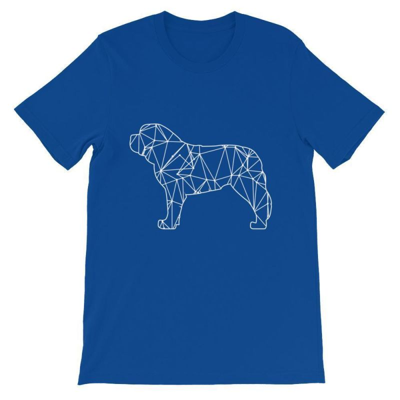 Saint Bernard Geometric Design - Unisex Short Sleeve T-Shirt True Royal / S