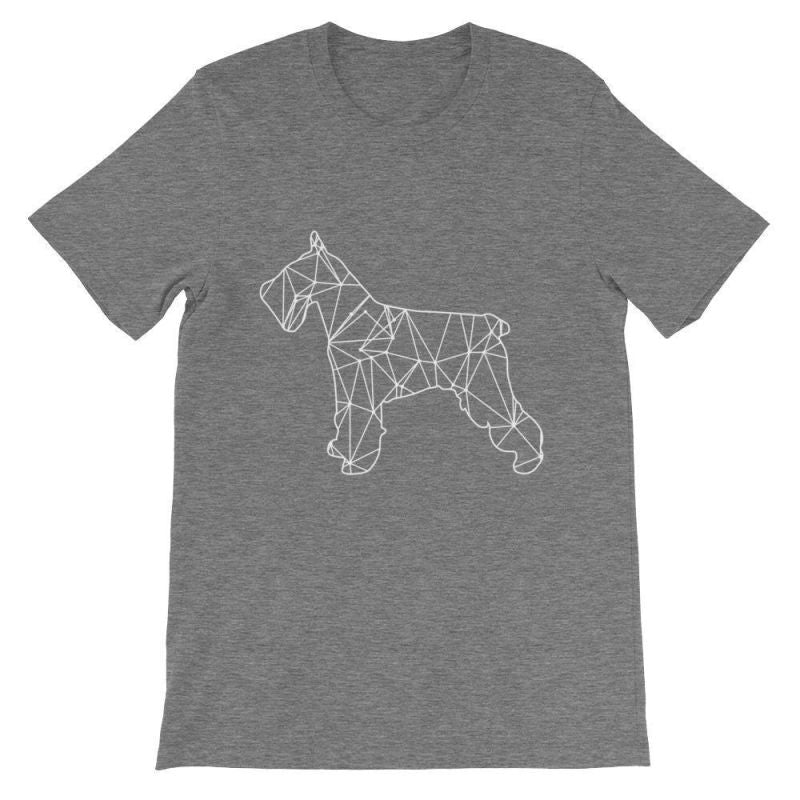 Schnauzer Geometric Design - Unisex Short Sleeve T-Shirt Deep Heather / S