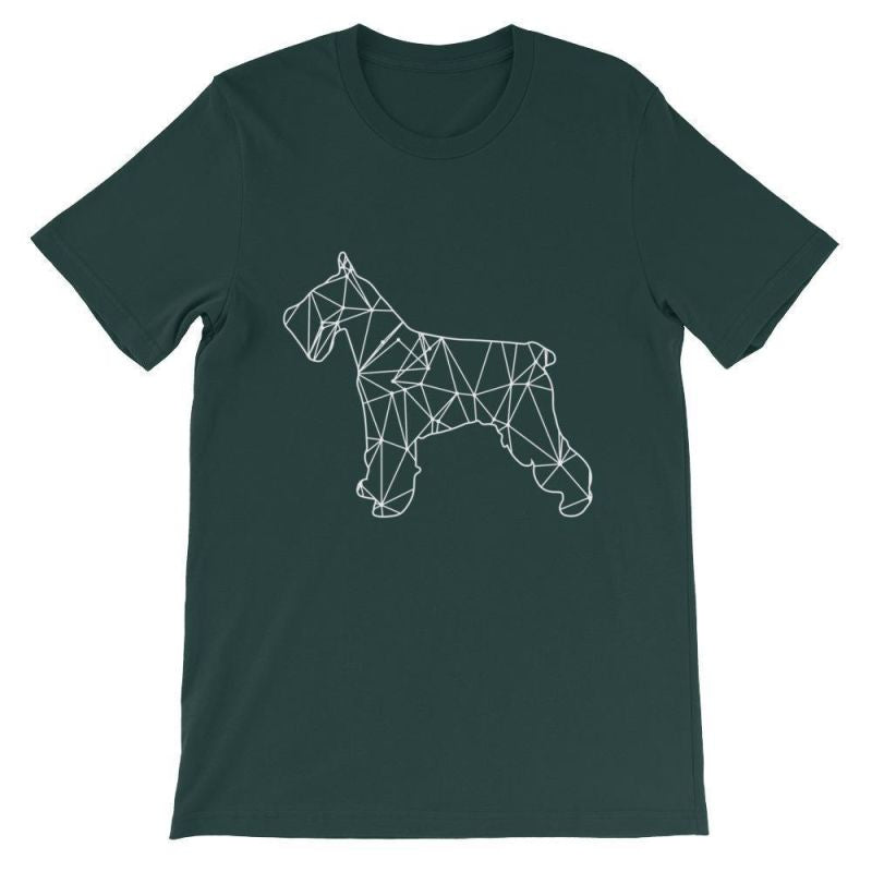 Schnauzer Geometric Design - Unisex Short Sleeve T-Shirt Forest / S