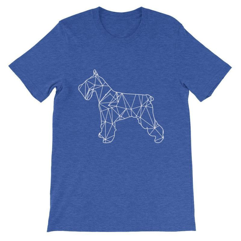 Schnauzer Geometric Design - Unisex Short Sleeve T-Shirt Heather True Royal / S