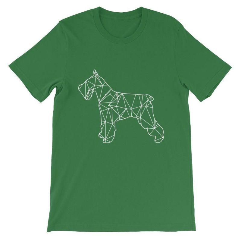 Schnauzer Geometric Design - Unisex Short Sleeve T-Shirt Leaf / S