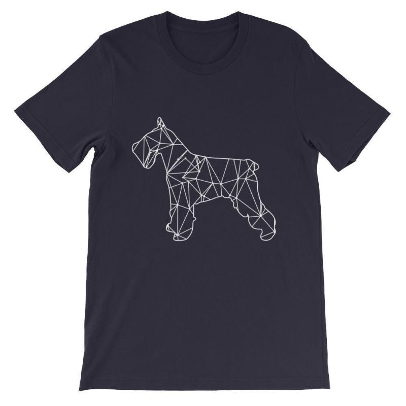 Schnauzer Geometric Design - Unisex Short Sleeve T-Shirt Navy / S