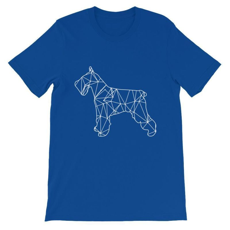 Schnauzer Geometric Design - Unisex Short Sleeve T-Shirt True Royal / S