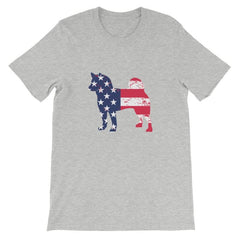Shiba Inu - Patriotic Design Short-Sleeve Unisex T-Shirt Athletic Heather / S