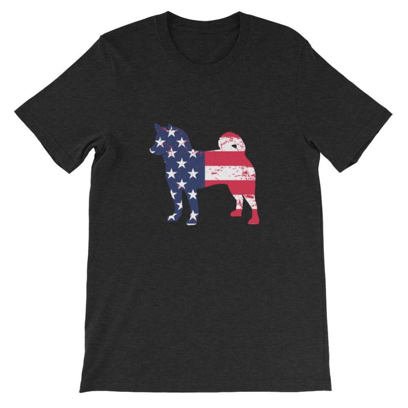 Shiba Inu - Patriotic Design Short-Sleeve Unisex T-Shirt Black Heather / S