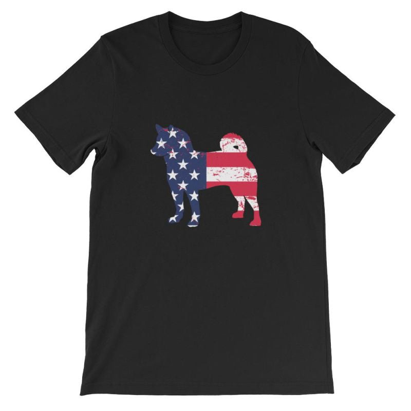 Shiba Inu - Patriotic Design Short-Sleeve Unisex T-Shirt Black / S