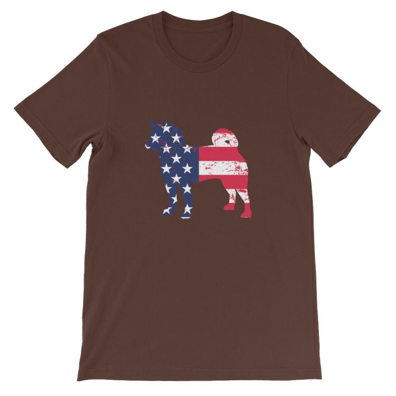 Shiba Inu - Patriotic Design Short-Sleeve Unisex T-Shirt Brown / S
