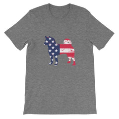 Shiba Inu - Patriotic Design Short-Sleeve Unisex T-Shirt Deep Heather / S