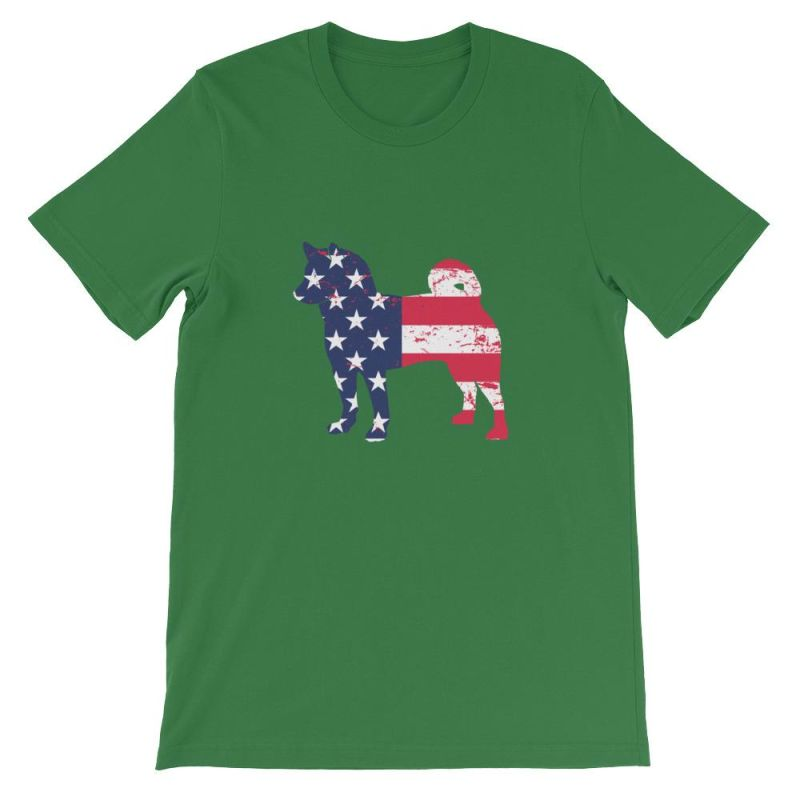 Shiba Inu - Patriotic Design Short-Sleeve Unisex T-Shirt Leaf / S