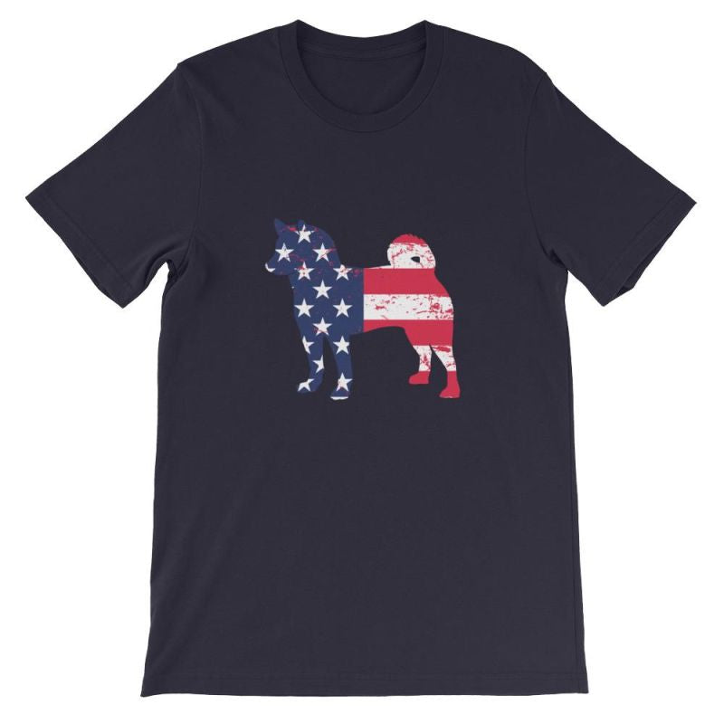Shiba Inu - Patriotic Design Short-Sleeve Unisex T-Shirt Navy / S