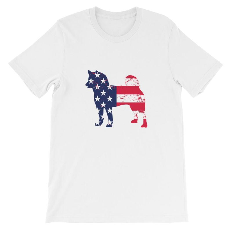 Shiba Inu - Patriotic Design Short-Sleeve Unisex T-Shirt White / S