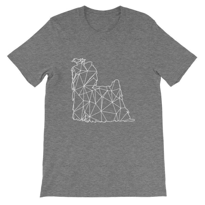Shih Tzu Geometric Design - Unisex Short Sleeve T-Shirt Deep Heather / S