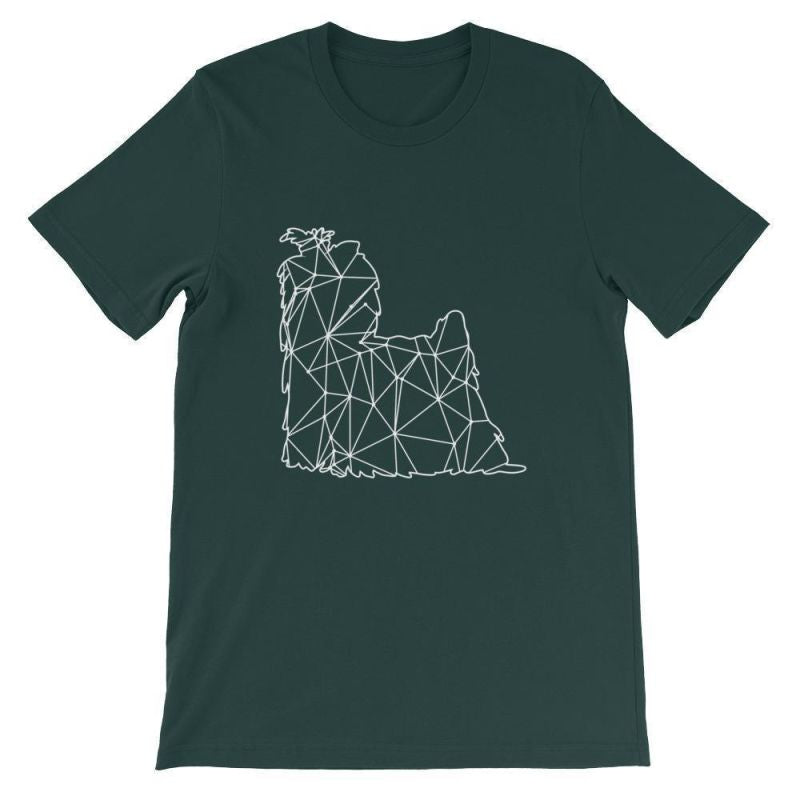 Shih Tzu Geometric Design - Unisex Short Sleeve T-Shirt Forest / S