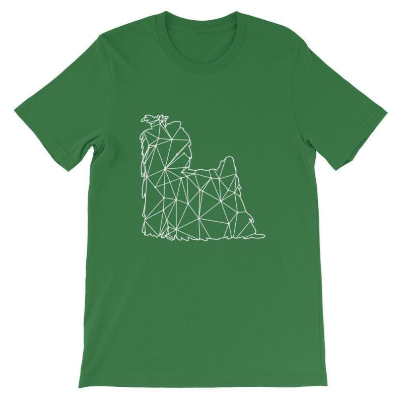 Shih Tzu Geometric Design - Unisex Short Sleeve T-Shirt Leaf / S