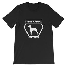 Spirit Animal Weimaraner - Unisex Short Sleeve T-Shirt Black / S