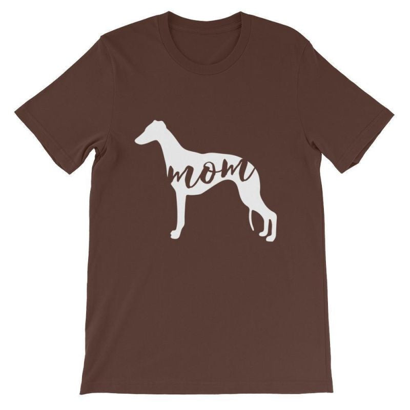 Whippet Mom - Unisex Short Sleeve T-Shirt Brown / S