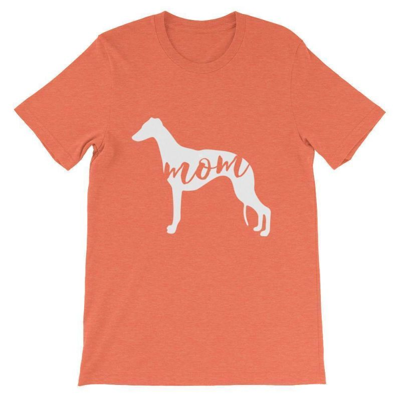 Whippet Mom - Unisex Short Sleeve T-Shirt Heather Orange / S