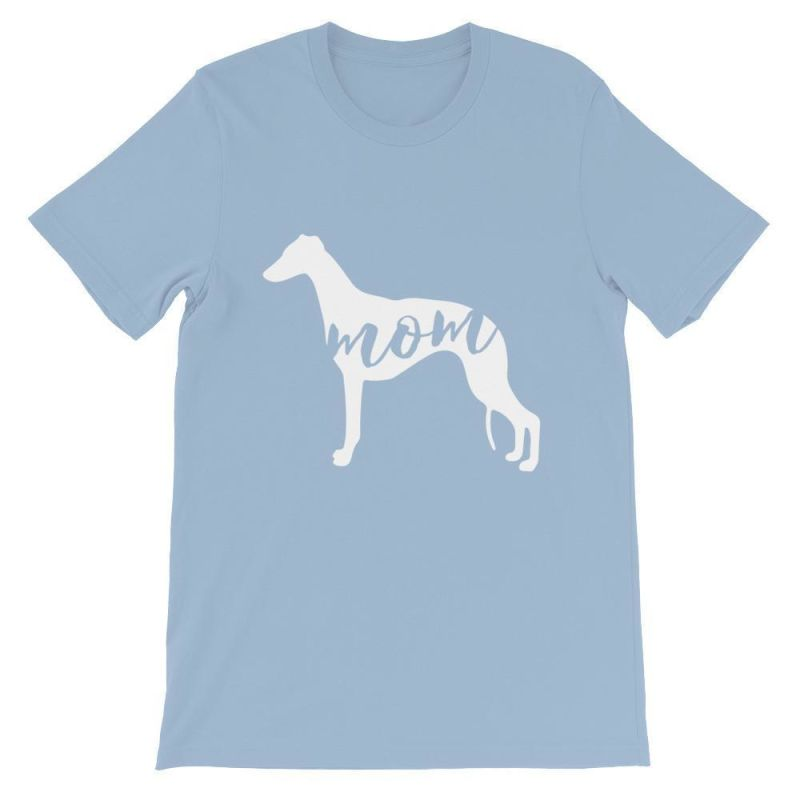 Whippet Mom - Unisex Short Sleeve T-Shirt Light Blue / S