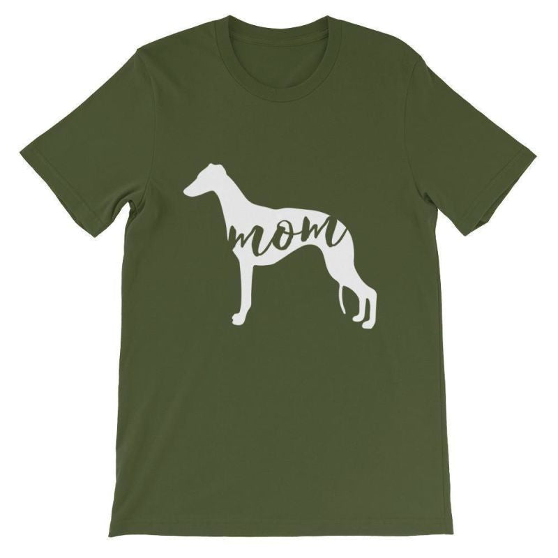 Whippet Mom - Unisex Short Sleeve T-Shirt Olive / S