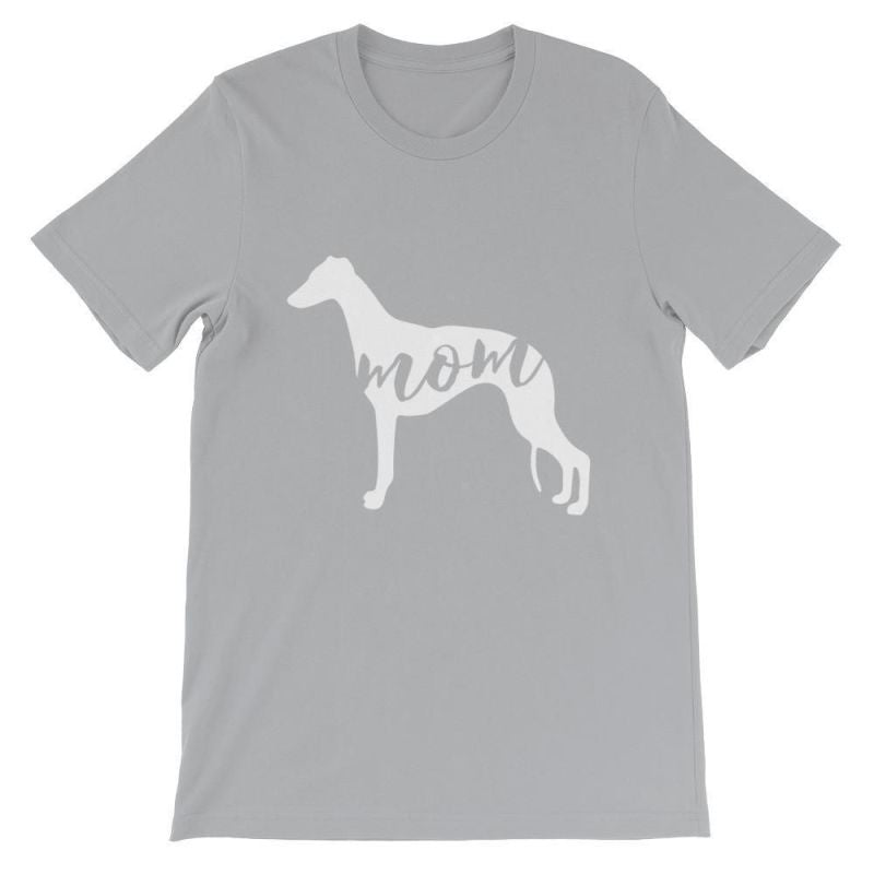 Whippet Mom - Unisex Short Sleeve T-Shirt Silver / S