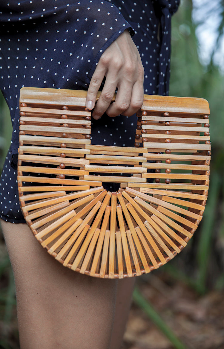 Aiko Small Bamboo Clutch