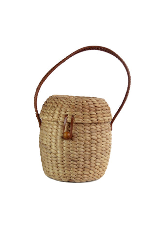 Mallee Black Basket Bag