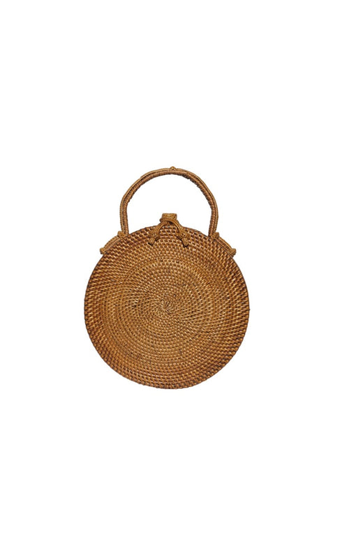 Lou Round Basket Clutch