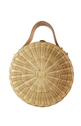 Olivia Cane Basket Bag