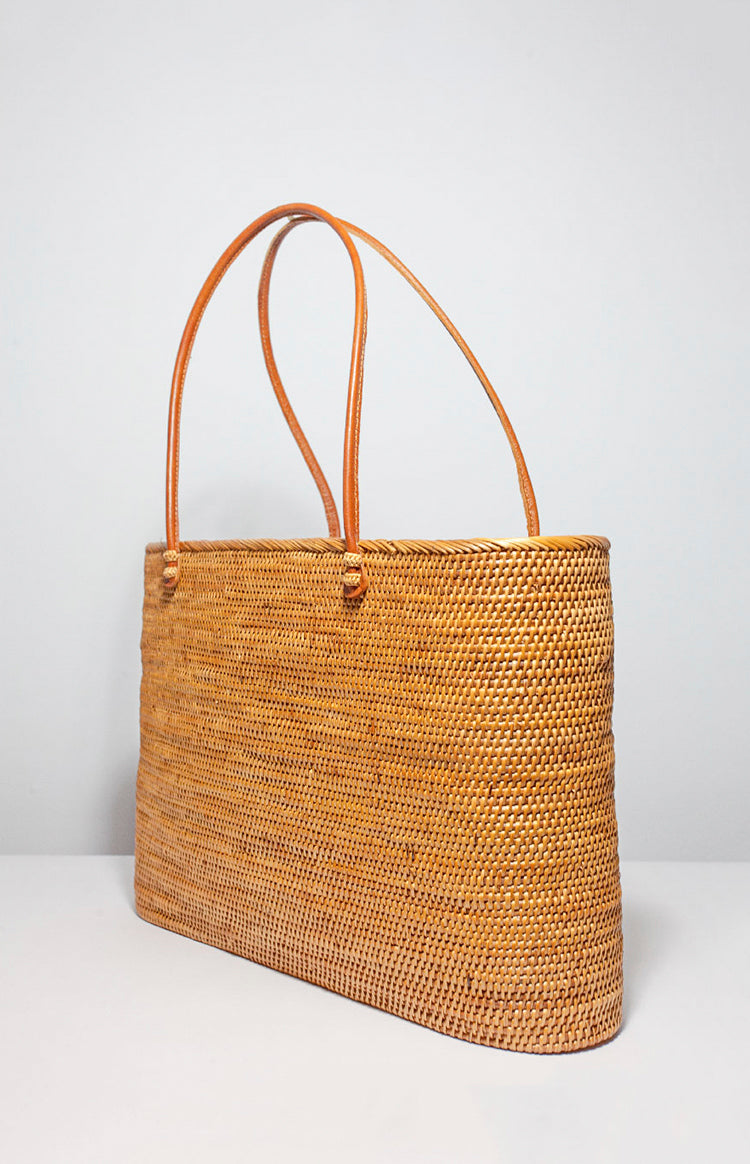 Luxe Tote Basket Bag
