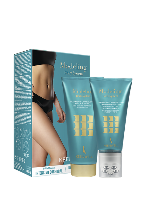 """MODELING BODY SYSTEM PACKS"" DRENO MASSAGE STUBBORN AREAS 150 ml + LIPO-SLIMMING TREATMENT INTEGRAL ACTION 200 ml"