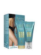 """MODELING BODY SYSTEM PACKS""  LIPO-SLIMING TREATMENT ACTIVE DRENO-MASSAGE STUBBORN AREAS 150 ML +  BODY SCRUB GEL 200 ML"