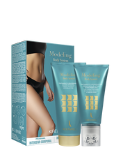 """MODELING BODY SYSTEM PACKS"" LIPO-SLIMING TREATMENT ACTIVE DRENO-MASSAGE STUBBORN AREAS 150 ml + FIRMING TREATMENT INTEGRAL ACTION 200 ml"